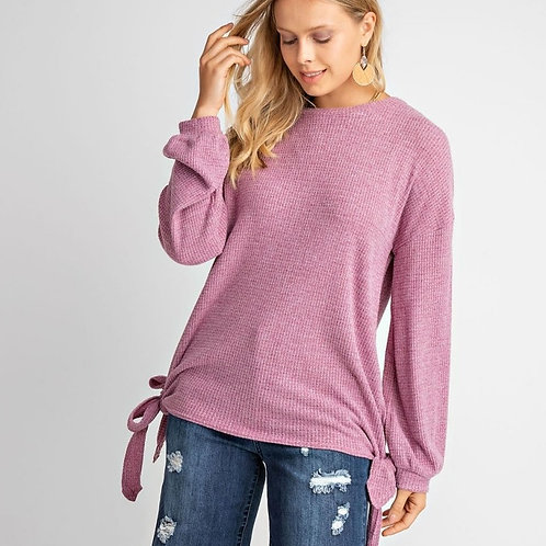 LOVE ME THERMAL TOP-RASPBERRY