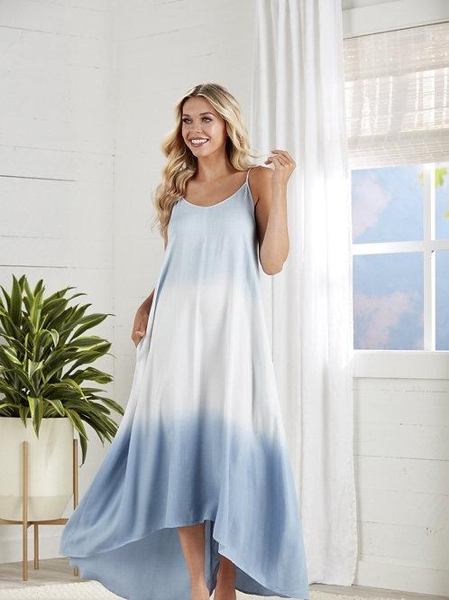 Malone Tie Dye Dress-Blue