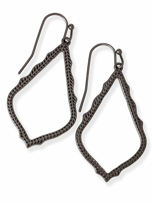 Sophia Drop Earrings-Gunmetal