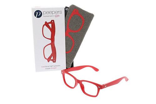 Peeper's Simply Kids Blue Light Glasses-Red