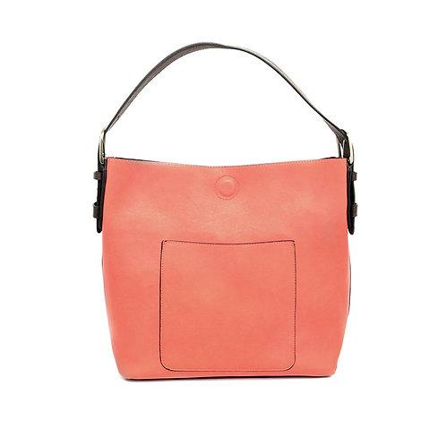 Hobo Handbag -Tango/Brown Handle