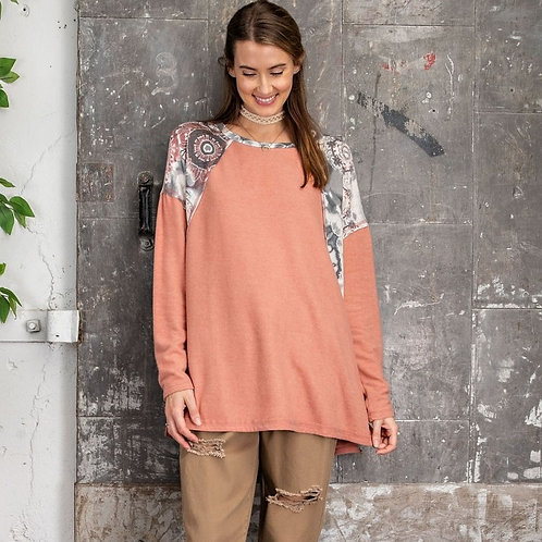 OVER YOU CONTRAST  TOP-CORAL