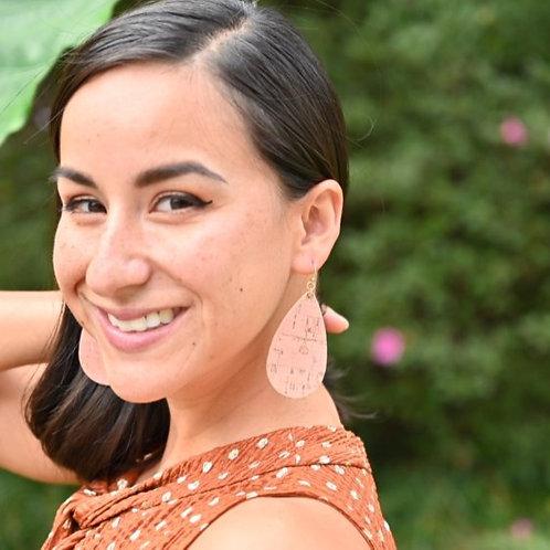 Cork Teardrop Earrings-Natural