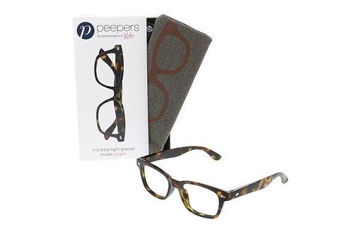 Peeper's Simply Kids Blue Light Glasses-Tortoise