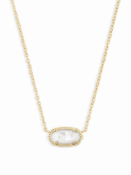 Elisa Pendant Necklace In Ivory Pearl