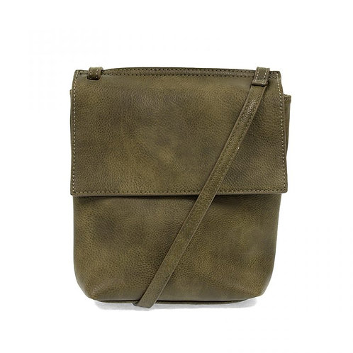 Aimee Front Flap Crossbody Bag-Olive