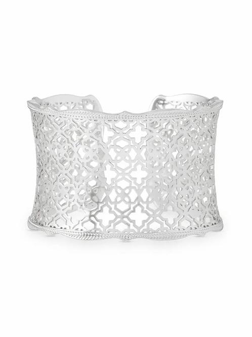 Candice Silver Cuff Bracelet In Silver Filigree