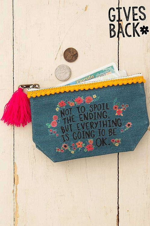 Everything Is OK Mini Canvas Pouch