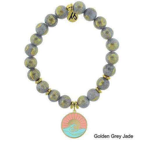 Paradise Gold Charm Stone Stacker