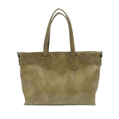 Michele Mid Size Zip Top Convertible Tote-Sage