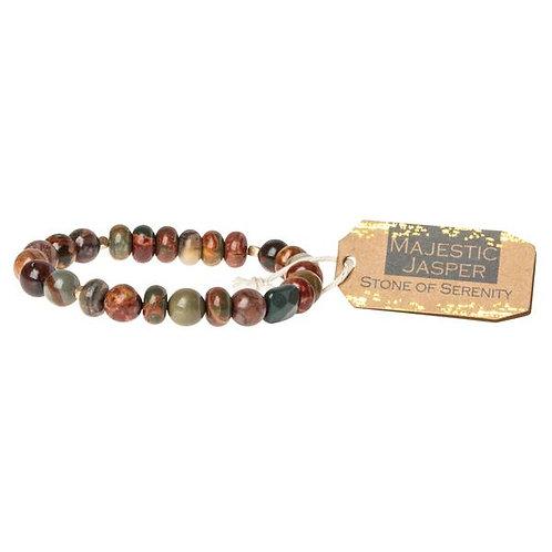 Majestic Jasper Stone Bracelet - Stone of Serenity