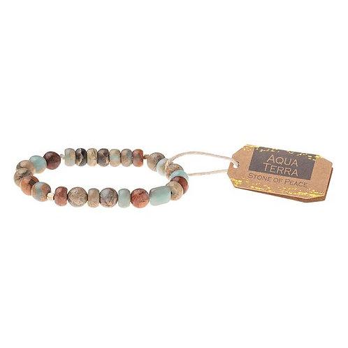 Aqua Terra Stone Bracelet - Stone of Peace