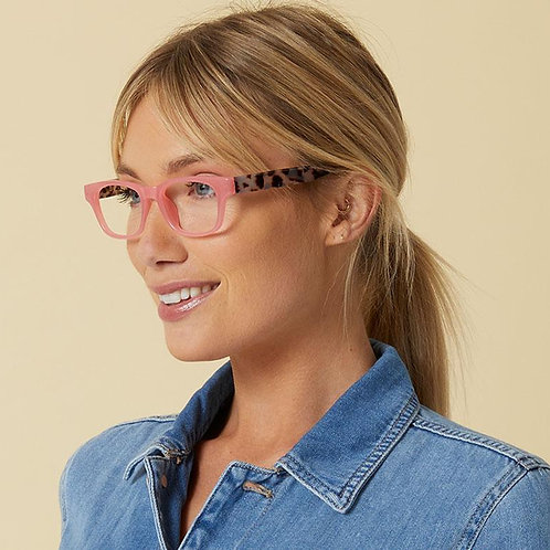 Peepers Glasses-Vintage Vibes-Pink/Gray Tortoise