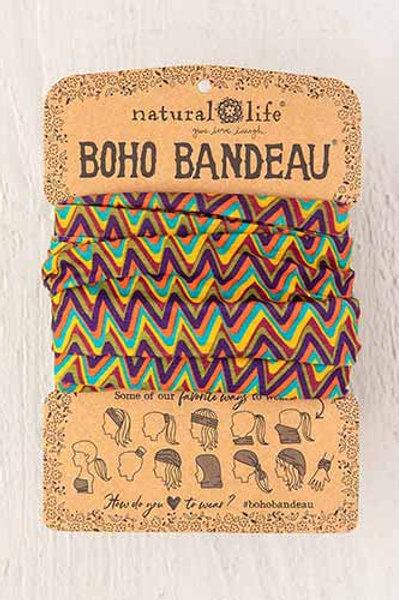 Boho Bandeau™ Multi Colored Zizgag