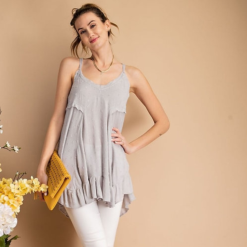 THAT EASY CAMI TUNIC-LT BLUE