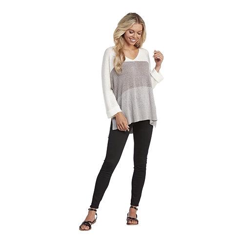 Lincoln Color Block Sweater-Gray