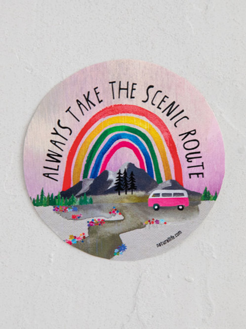Scenic Route Vinyl Sticker