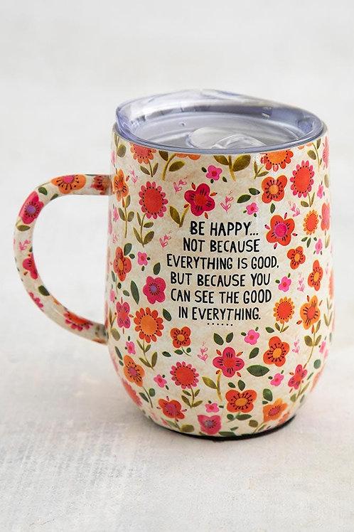 Be Happy Coffee Tumbler