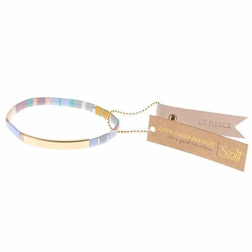 Good Karma Miyuki Bracelet | Be Fierce - Lavender/Gold