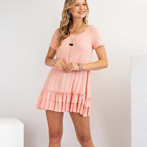 Double Ruffle Tunic-Pink Blush