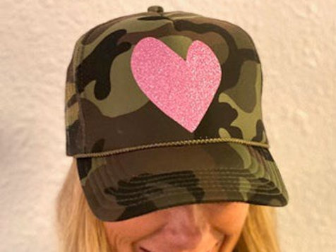 Camo Heart Trucker Hat