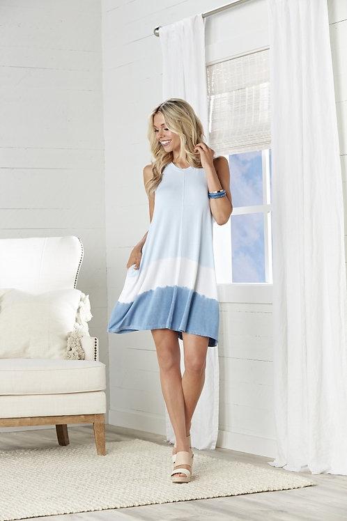 Baylor Swing Dress-Blue