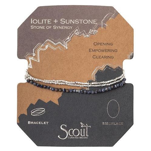 Delicate Stone Iolite & Sunstone - Stone of Synergy