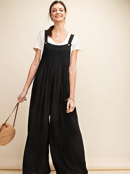 OVERALL JUMPSUIT-BLACK