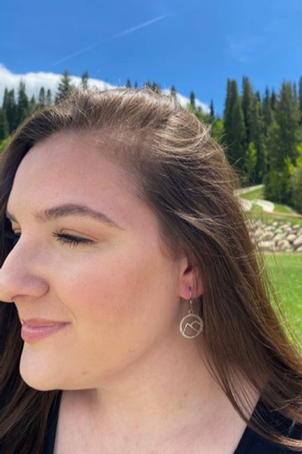 Circle Mountain Earrings