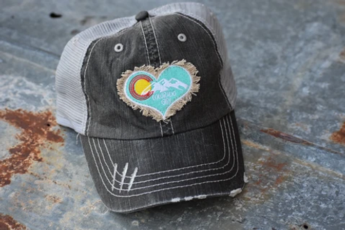 Colorado Girl Charcoal Distressed Trucker