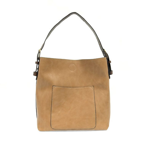Hobo Handbag - Camel w/ Coffee Handle