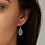 Thumbnail: Lee Silver Drop Earrings In Iridescent Drusy