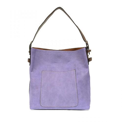 Hobo Handbag -Purple Rain/Coffee Handle