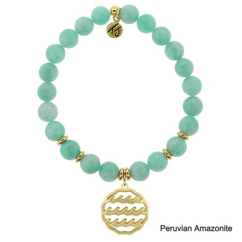 Waves of Life Gold Charm Stone Stacker