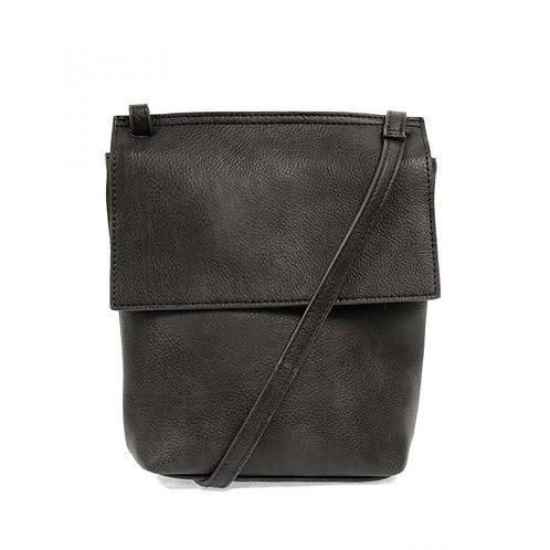 Aimee Front Flap Crossbody Bag-Charcoal