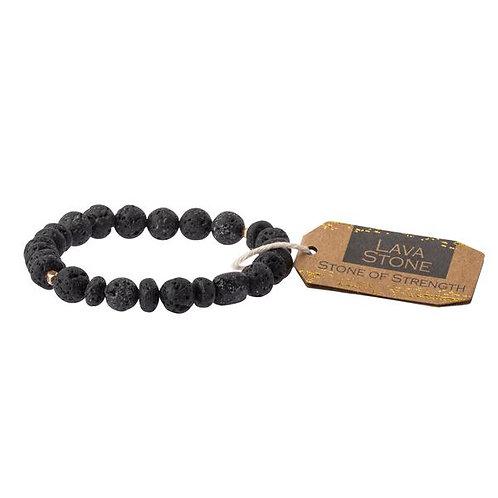 Lava Stone Bracelet - Stone of Strength