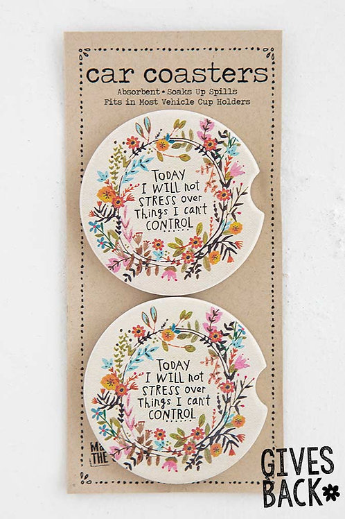 Will Not Stress Set of 2 Car Coasters