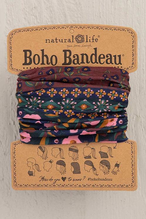 Boho Bandeau™ Wine Floral Border