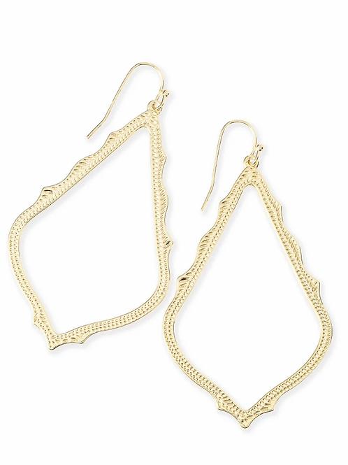 Sophee Drop Earrings-Gold