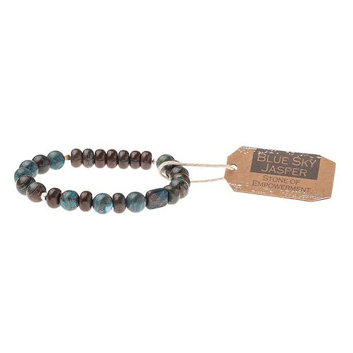 Blue Sky Jasper Stone Bracelet - Stone of Empowerment