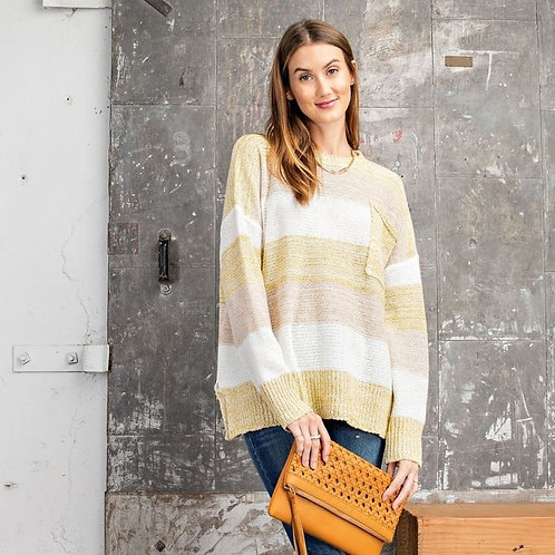 PLAYFUL MULTI COLORED PULLOVER SWEATER