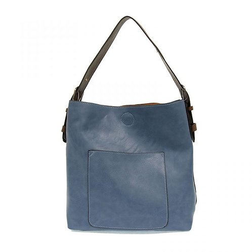 Hobo Handbag -Cerulean/Coffee Handle