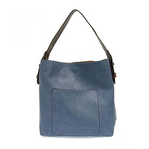Hobo Handbag -Cerulean/Coffee Handle