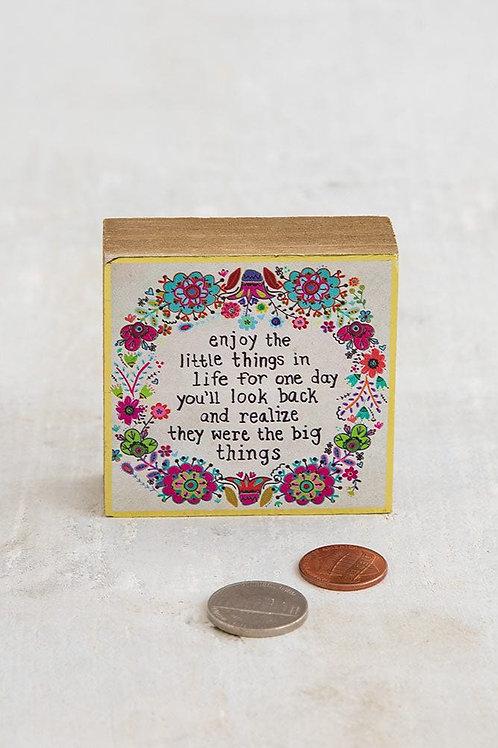 Enjoy Little Things Tiny Block Keepsake