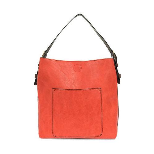 Hobo Handbag - Coral w/ Coffee Handle