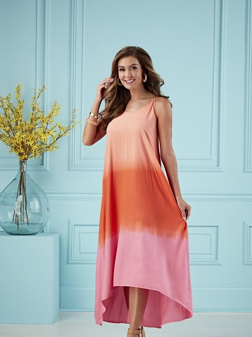 Malone Tie Dye Dress-Pink