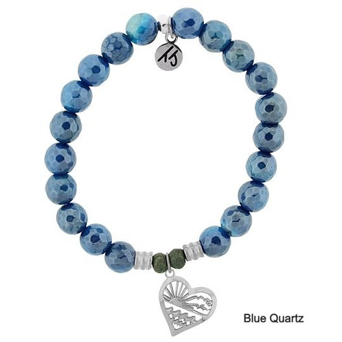 Seas the Day Sterling Silver Charm Stone Stacker