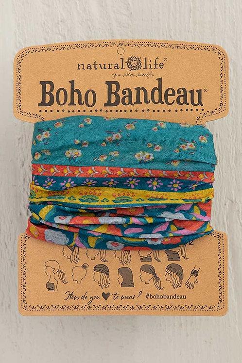 Boho Bandeau™ Turq Floral Border
