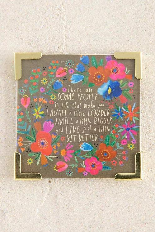 Laugh A Little Louder Corner Magnet