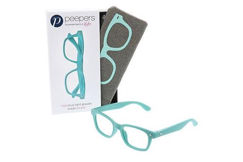 Peeper's Simply Kids Blue Light Glasses-Aqua